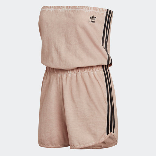 Women's Adidas Originals No-Shoulder Romper Dust Pearl
