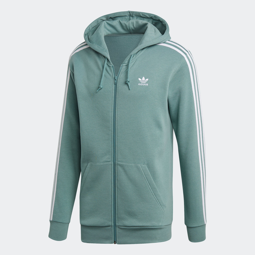 Men's adidas Originals 3-Stripes Hoodie Vapour Steel