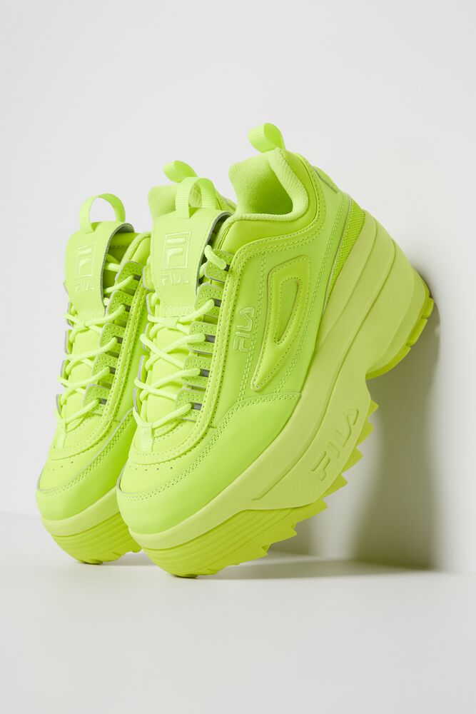 Women's FILA Disruptor 2 Wedge Neon