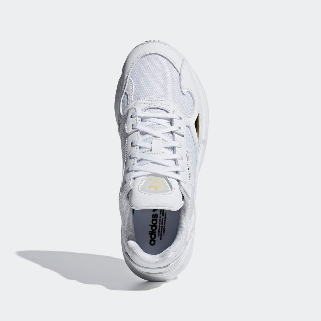 Women's adidas Originals Falcon Shoes Cloud White Gold