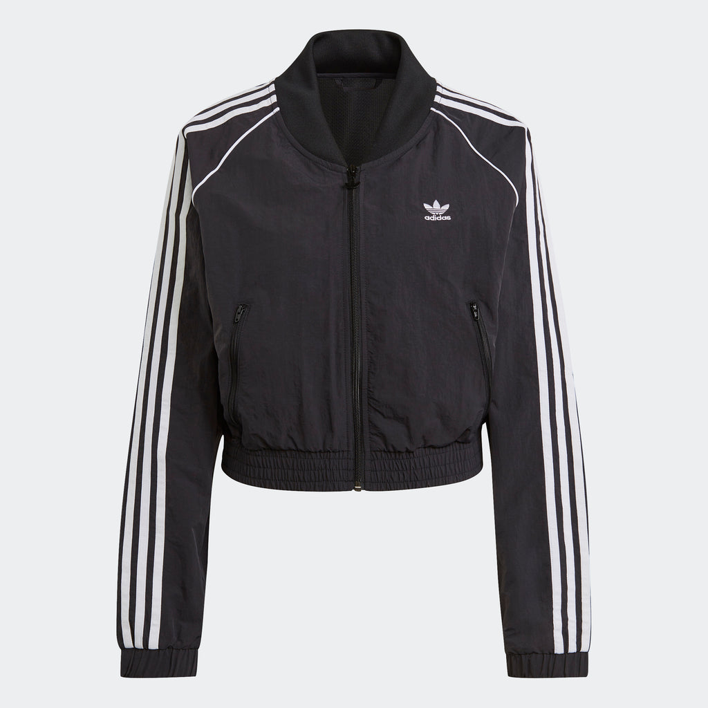 Women's adidas Originals Adicolor Classics Cropped Track Jacket Black