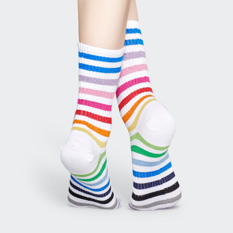 Men's Happy Socks Athletic Striped Mid High Socks