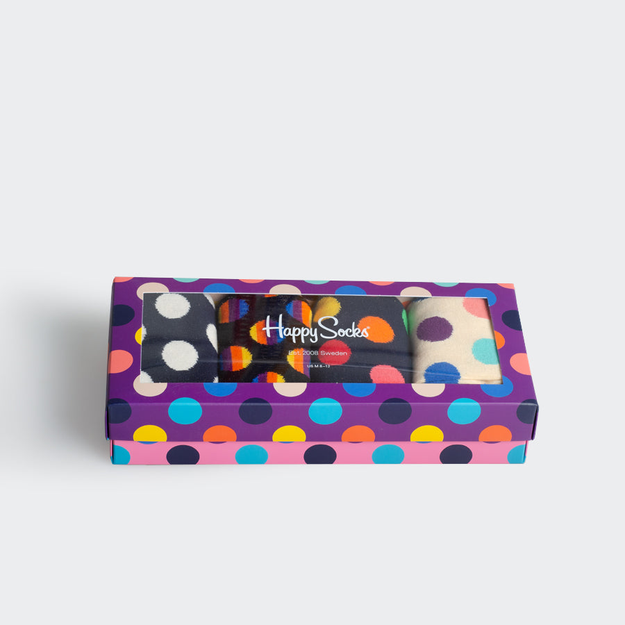 Happy Socks Purple Dot Gift Box