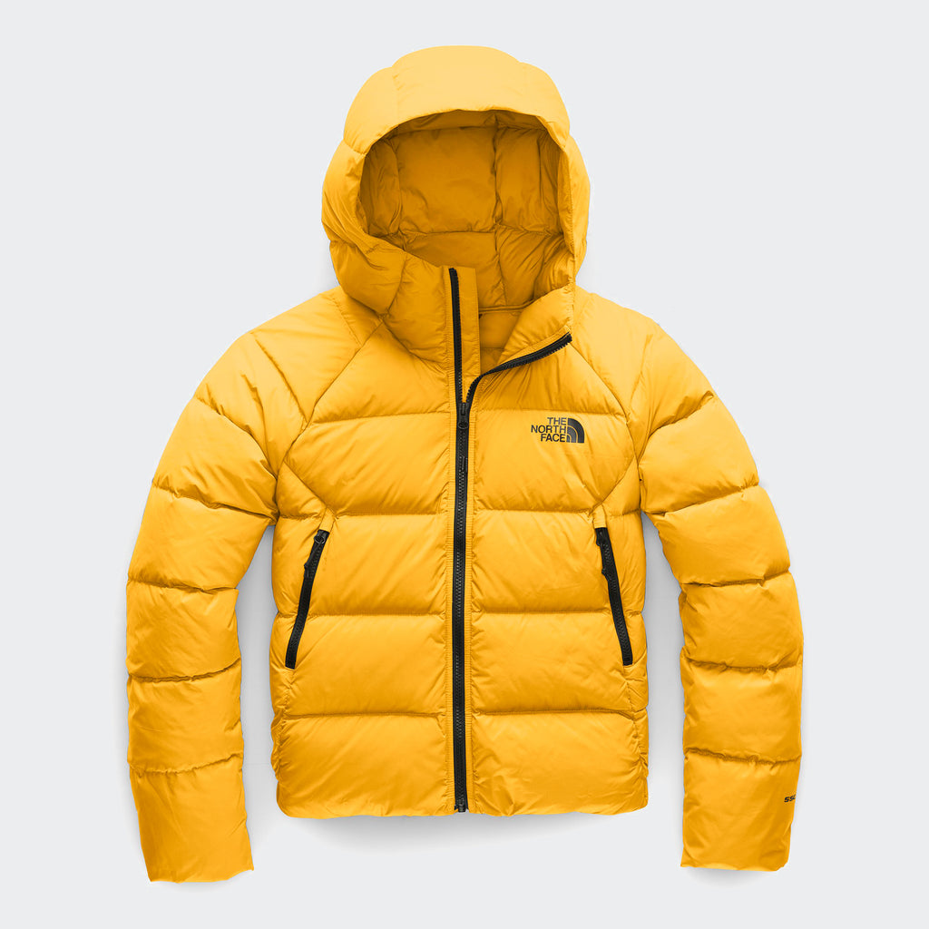 Women's The North Face Hyalite Down Hoodie Jacket Yellow