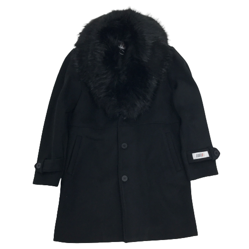 Men's Fifth Loop Coat with Fur Black FLJ007BLK | Chicago City Sports | front view