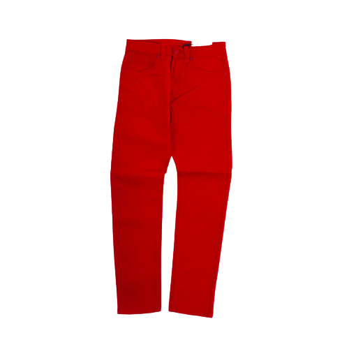 Men's Octagon Basic Twill Pants Red OT103STRED | Chicago City Sports | front view
