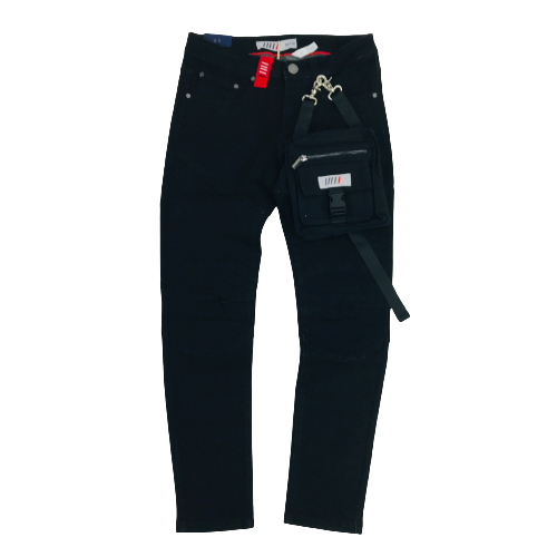 Men's Fifth Loop Denim Jeans with Bag FLP001JBK | Chicago City Sports | front view