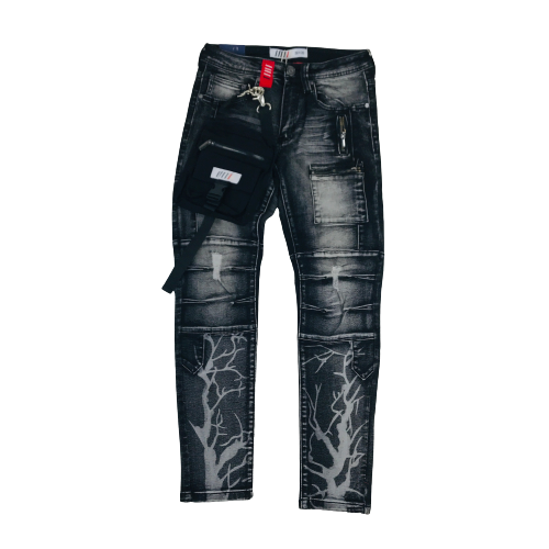 Men's Fifth Loop Jeans Black with Bag FLP003BLK | Chicago City Sports | front view