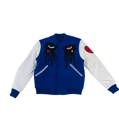 Men's Roku Varsity Jacket Blue RK6480319ROY | Chicago City Sports | front view