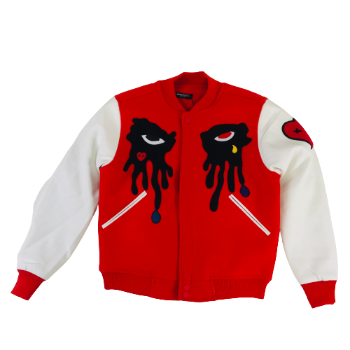 Men's Roku Varsity Jacket Red RK6480319RED | Chicago City Sports | front view