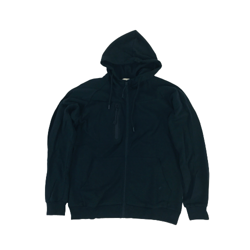 Men's Spatium Full Zip Hoodie Black OT204HBK | Chicago City Sports | front view