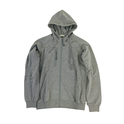 Men's Spatium Full Zip Hoodie Grey OT204HGY | Chicago City Sports | front view