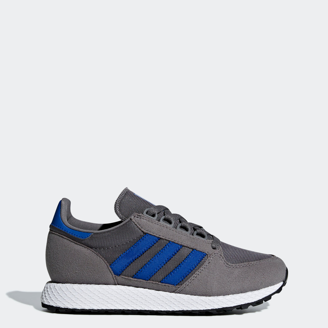 Kid's Adidas Originals Forest Grove Shoes Grey Four Blue