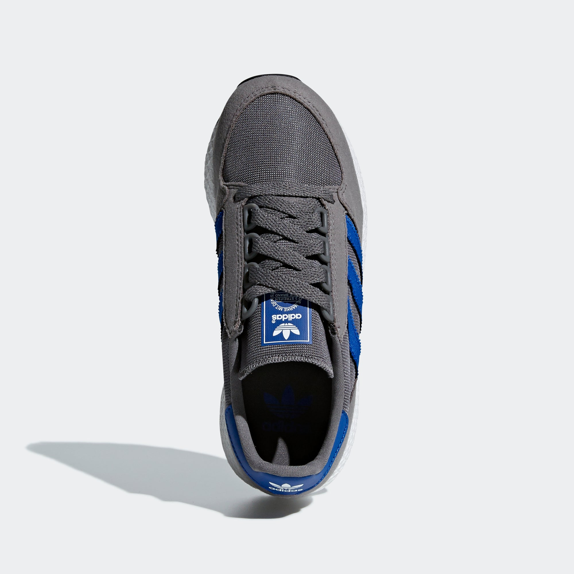 outlet store afe0a d4307 Kids adidas Originals Forest Grove Shoes Grey Four Blue. 1