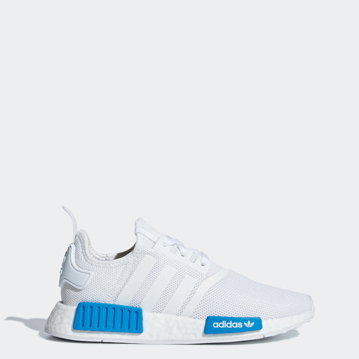 Kid's Adidas Originals NMD_R1 Shoes Cloud White/ Bright Blue