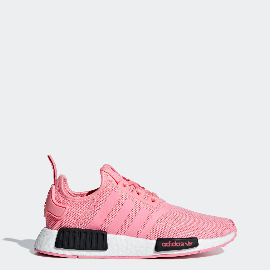Kid's adidas Originals NMD_R1 Shoes Super Pop Pink