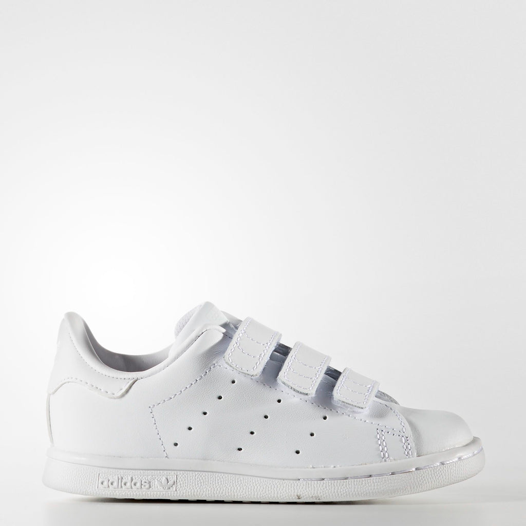 Toddler's adidas Originals Stan Smith Velcro Shoes Triple White