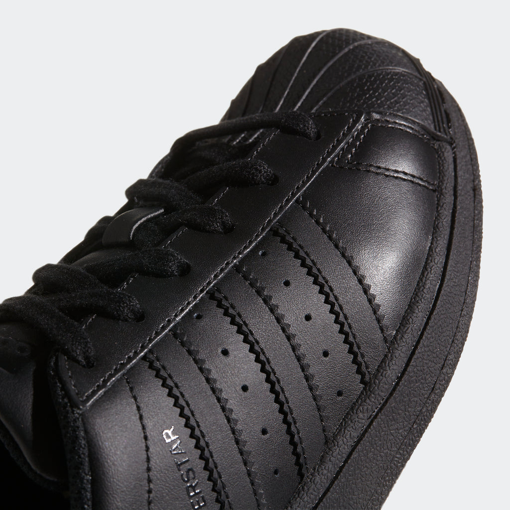 Kid's adidas Originals Superstar Foundation Shoes Triple Black
