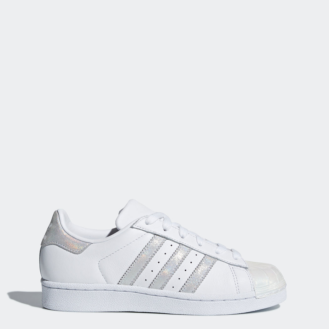 Kid's Adidas Originals Superstar Shoes White Iridescent