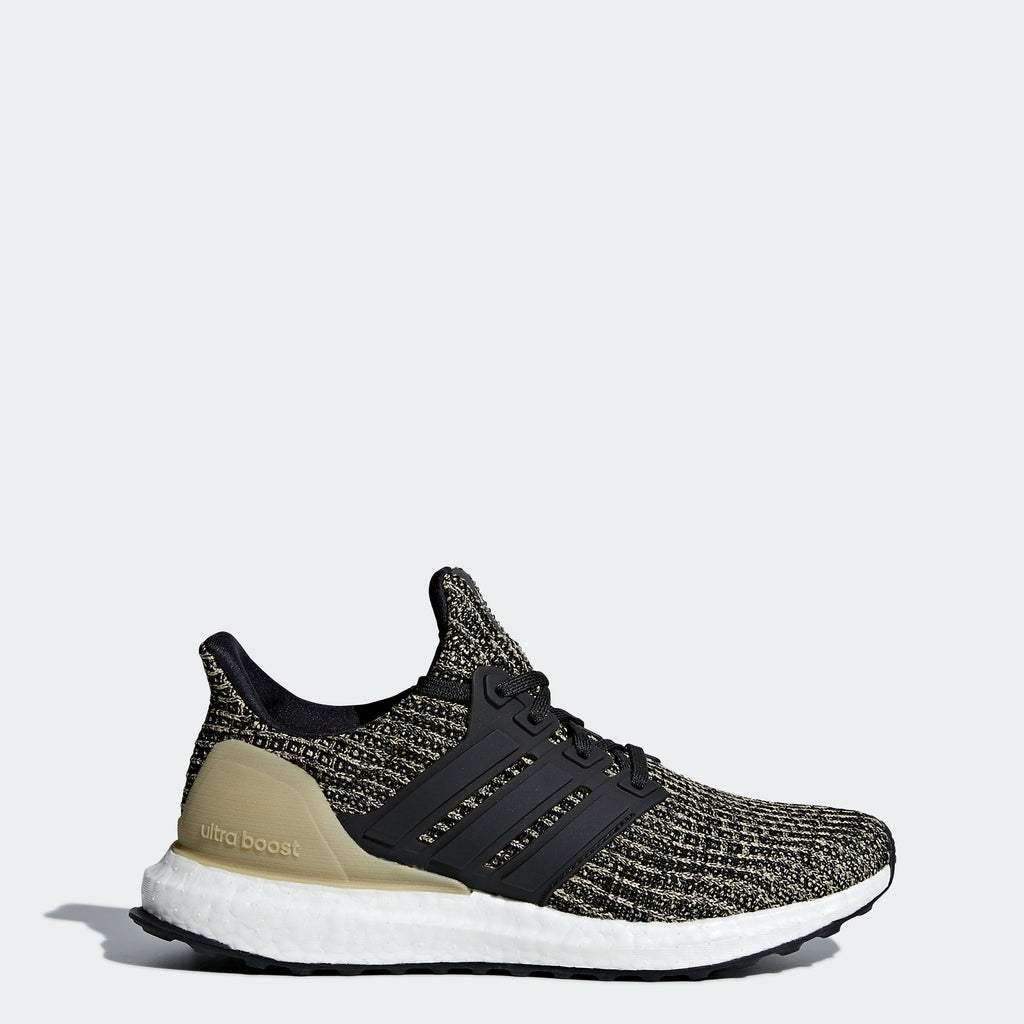 Kid's adidas Running Ultraboost Shoes Black Gold
