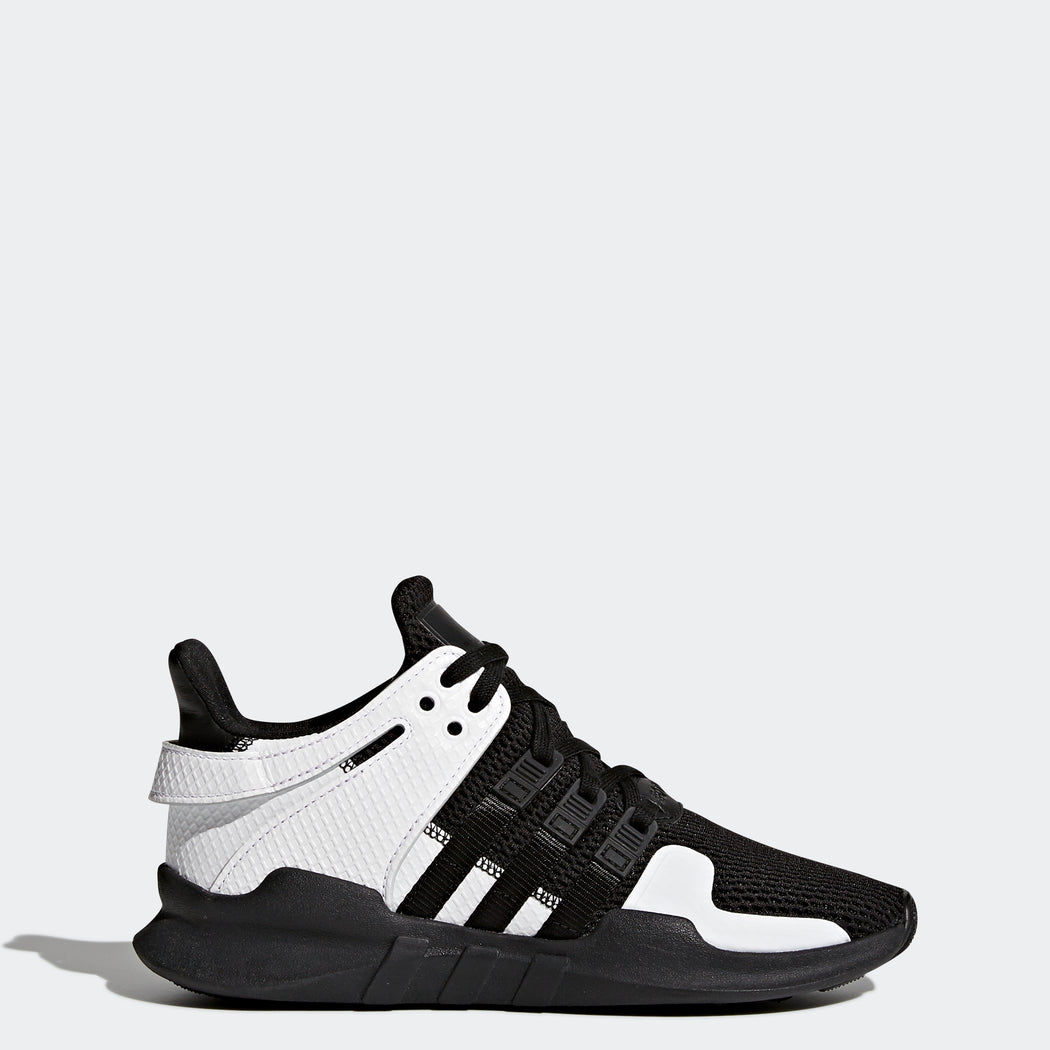 Kid's adidas Originals EQT Support ADV Shoes Core Black and White
