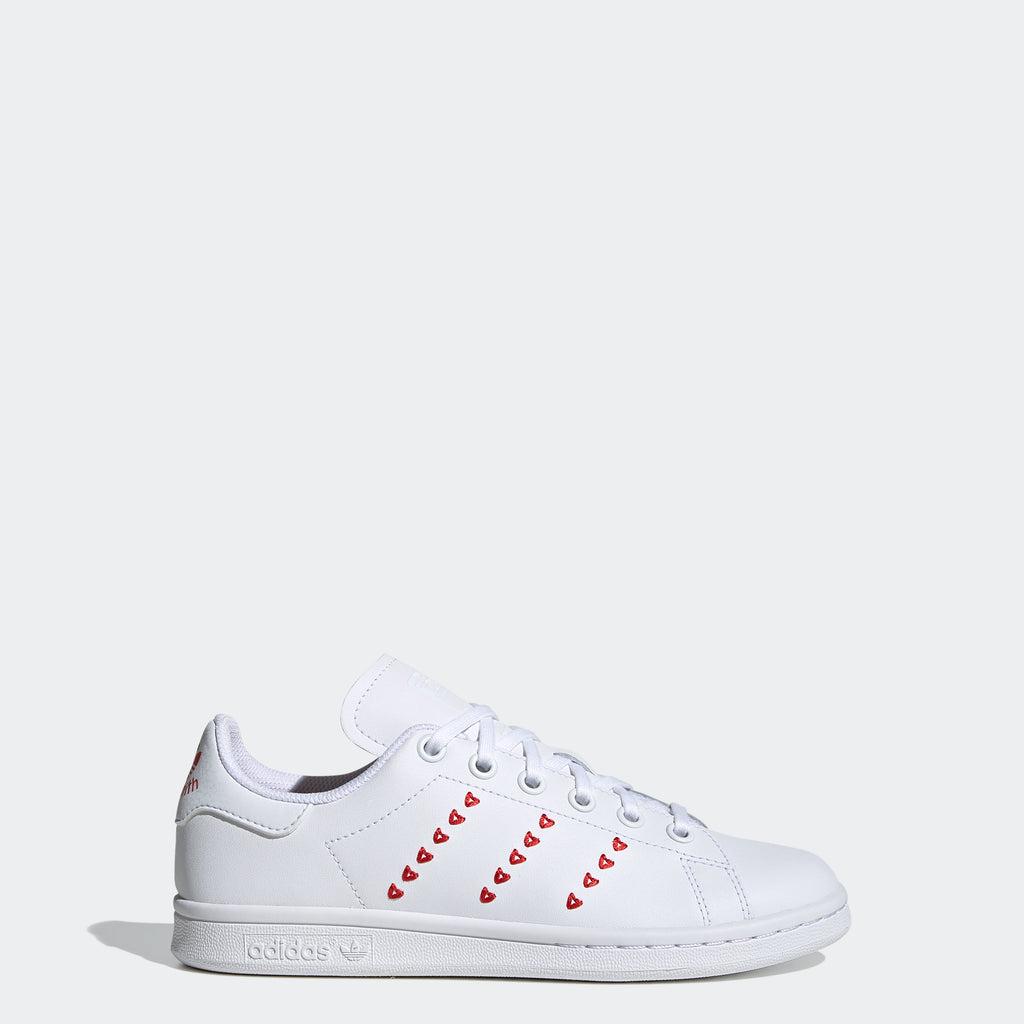 Kid's adidas Originals Stan Smith Shoes Embroidered Hearts