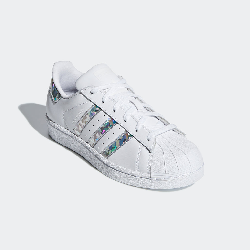 Kid's adidas Originals Superstar Shoes Cloud White Silver