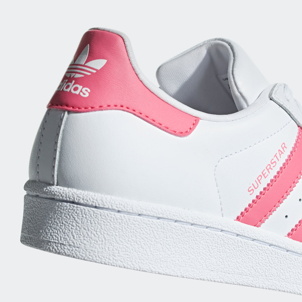 Kid's adidas Originals Superstar Shoes White Pink