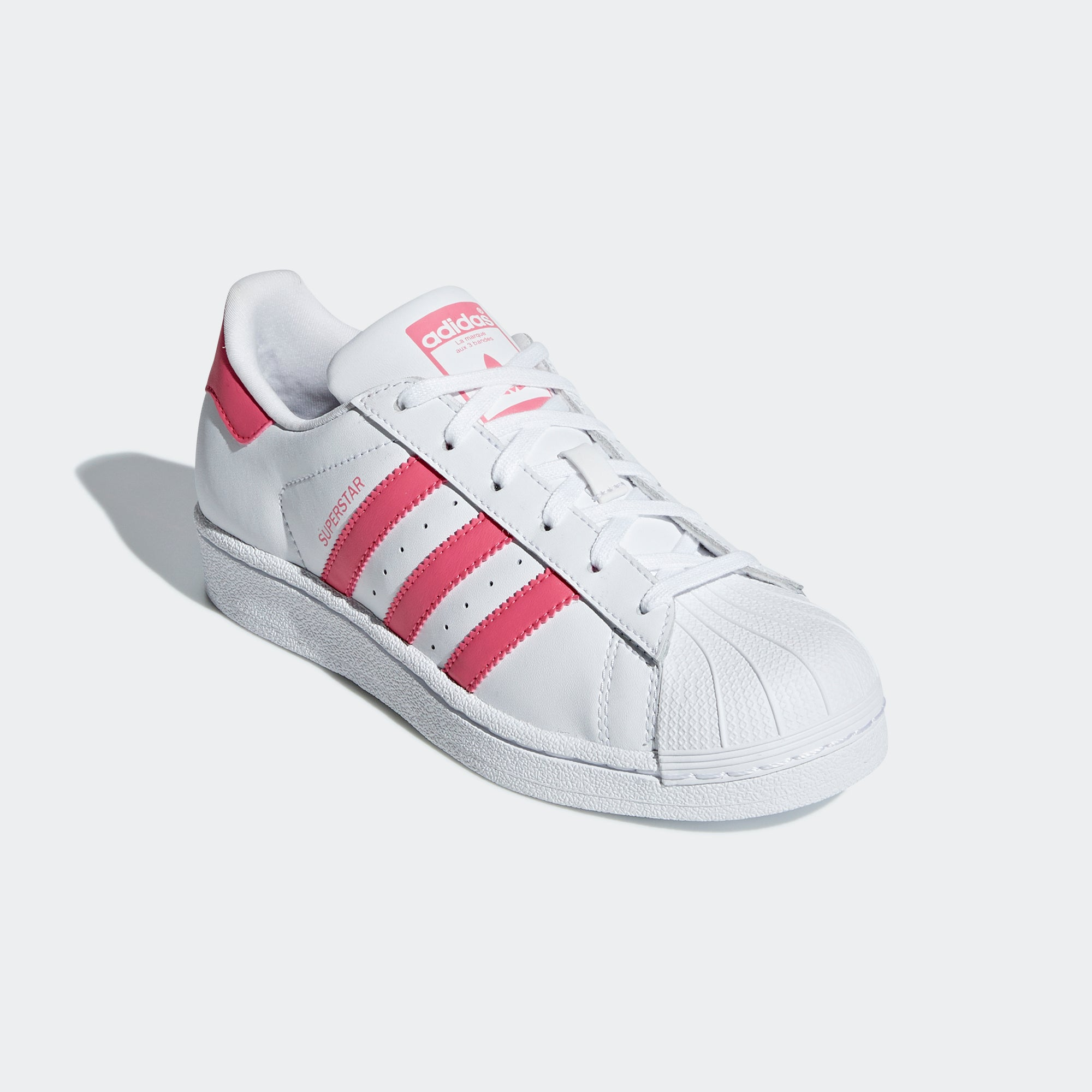 low priced 0d947 4eb5a Kid s adidas Originals Superstar Shoes White Pink. 1