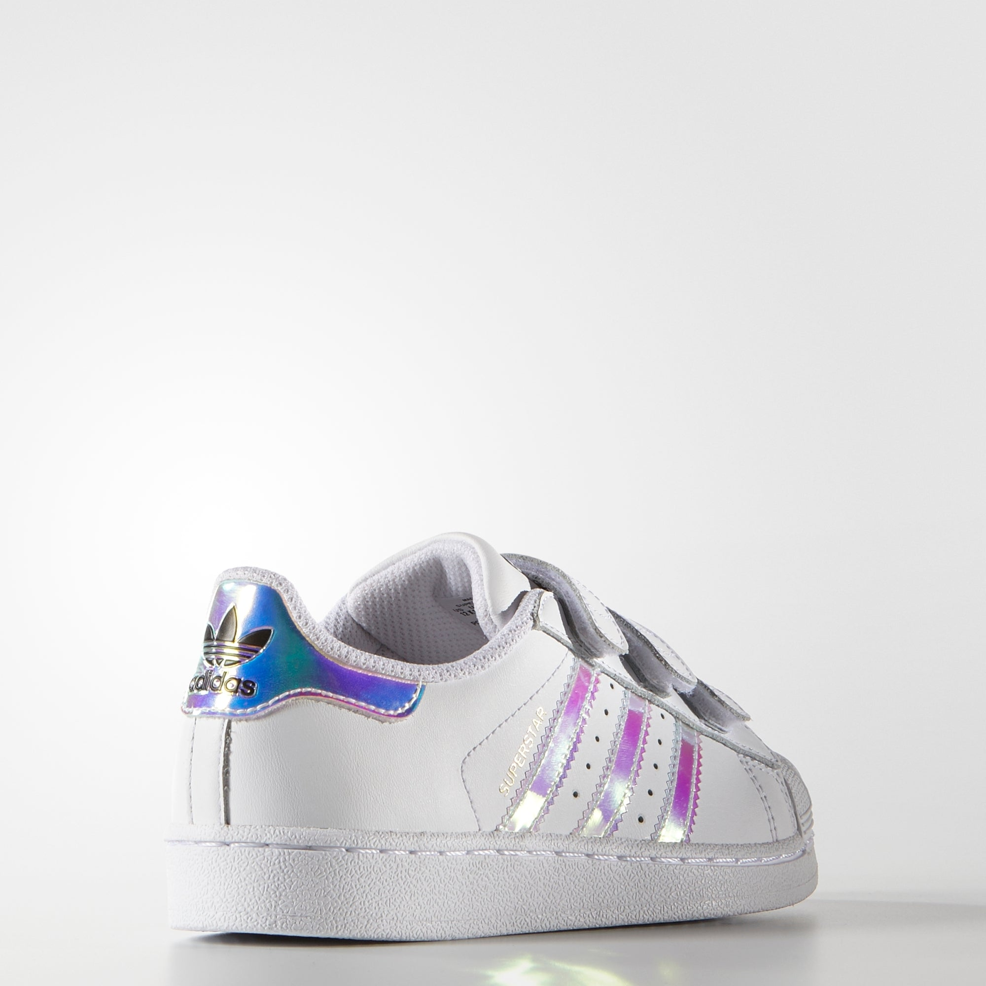 c47d872d53a5 Kid s adidas Originals Superstar Velcro Shoes White Hologram Iridescent. 1