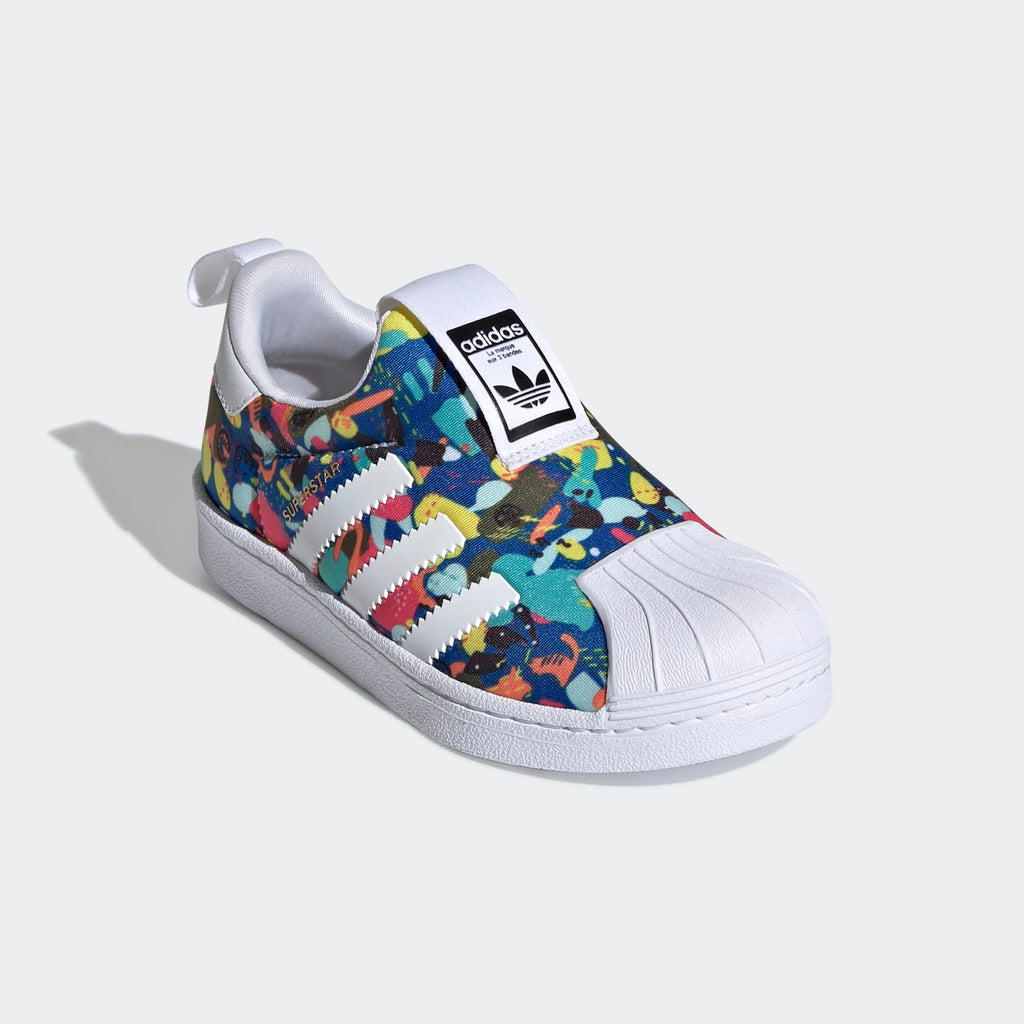 Kid's adidas Originals Superstar 360 Slip On Sneakers Multicolor
