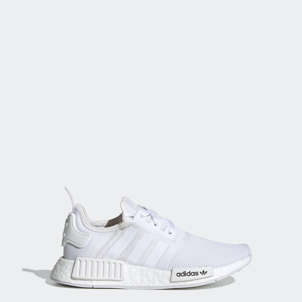 Kid's adidas Originals NMD_R1 Shoes White FW0432 | Chicago City Sports | side view