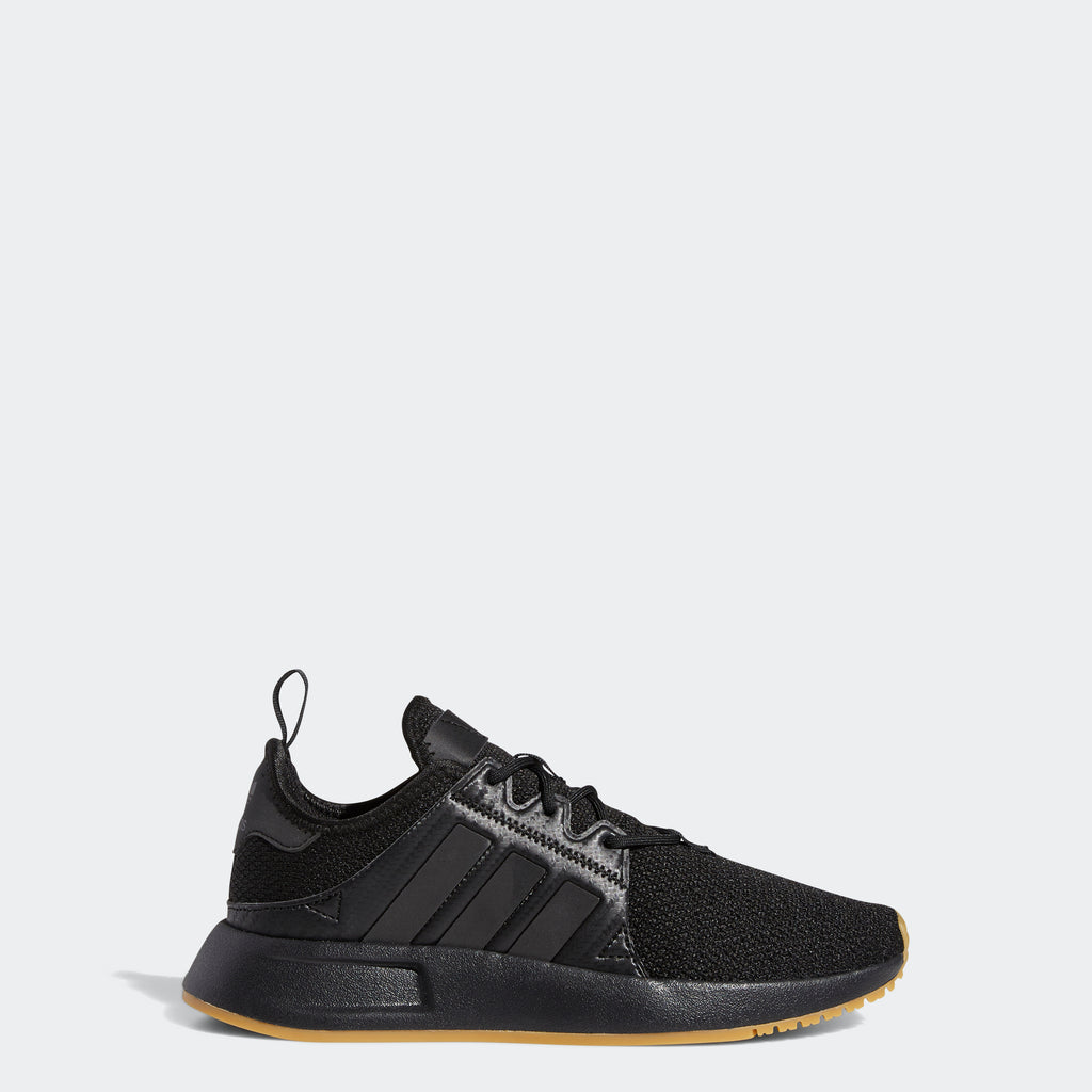 Kid's adidas Originals X_PLR Shoes Black Gum (SKU FY9061) | Chicago City Sports | side view
