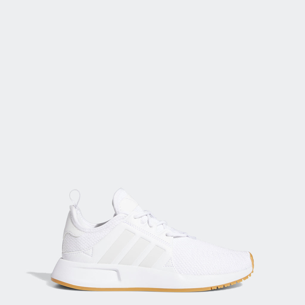 Kid's adidas Originals X_PLR Shoes White Gum FY9062 | Chicago City Sports | side view