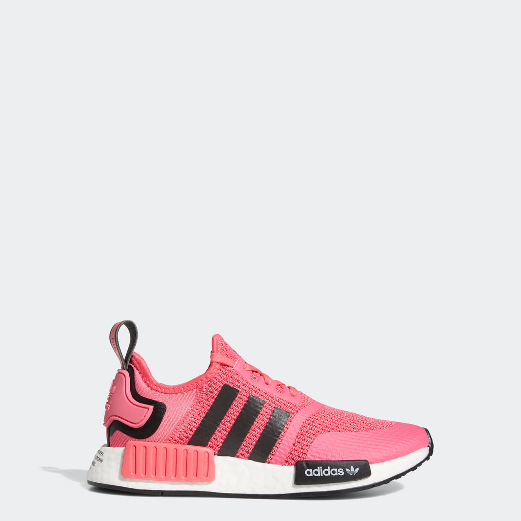 Kids' adidas NMD_R1 Shoes Super Pink FV1694 | Chicago City Sports | side view