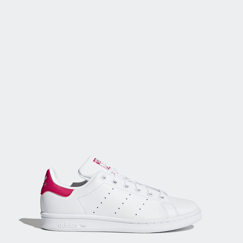 Kids' adidas Originals Stan Smith Shoes White Bold Pink