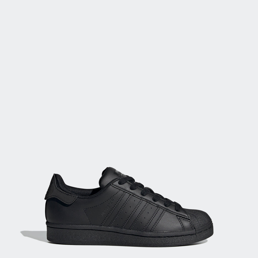 Kids' adidas Superstar Shoes Core Black FV3702 | Chicago City Sports | side view