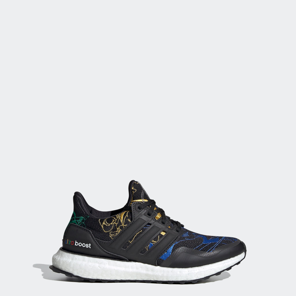 Kids' adidas Originals Ultraboost DNA Running Shoes Black FX0227 | Chicago City Sports | side view