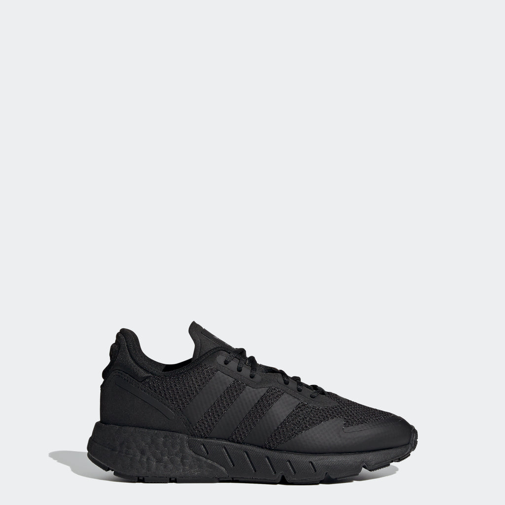 Kids' adidas ZX 1K Boost Shoes Black G58921 | Chicago City Sports | side view