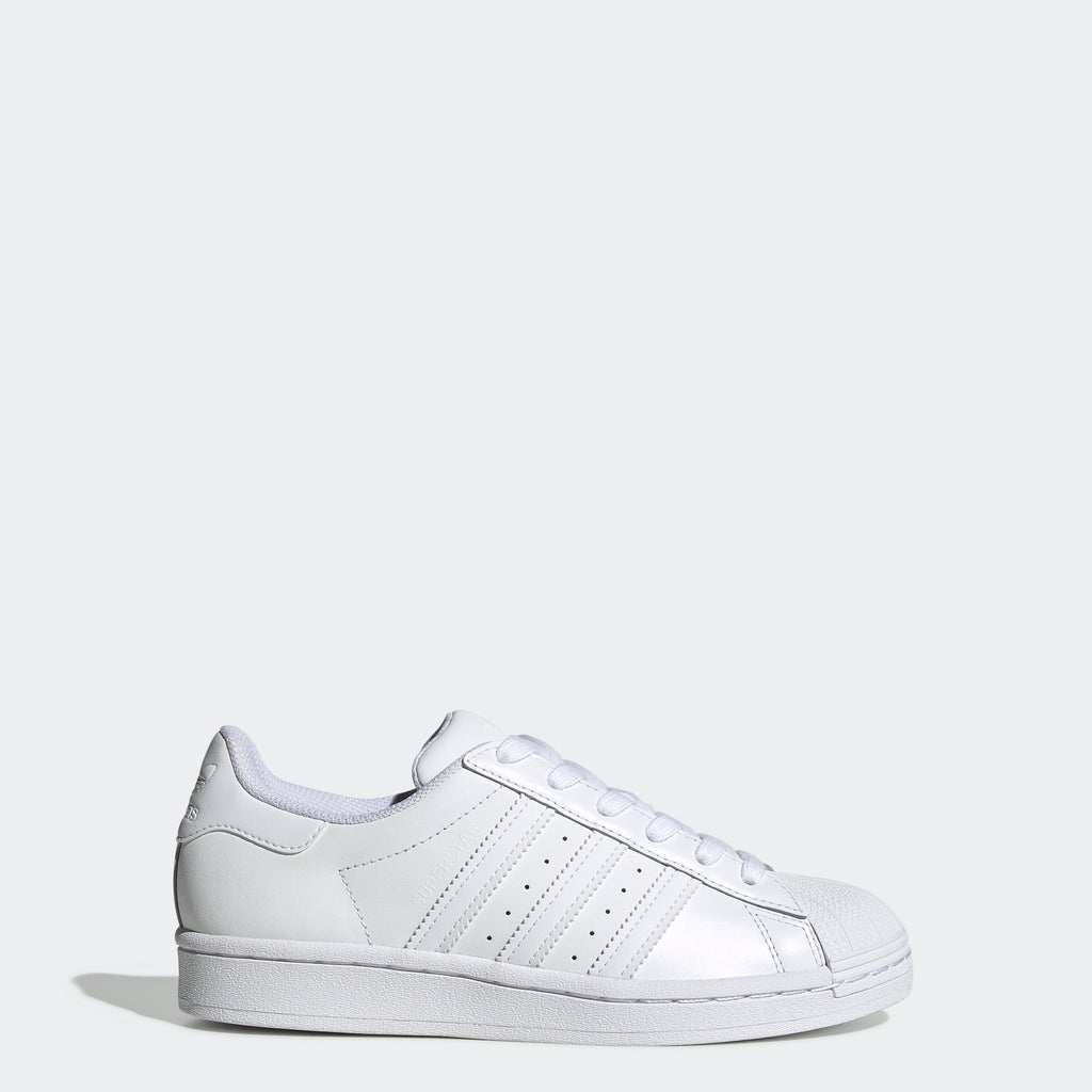 Kids' adidas Originals Superstar Shoes Triple White