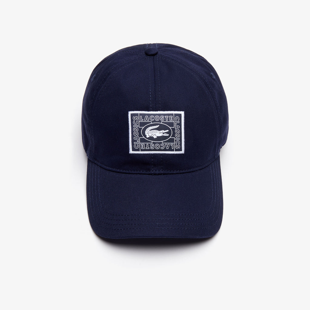 Lacoste Print Crocodile Badge Cap Navy RK4710166 | Chicago City Sports | front view