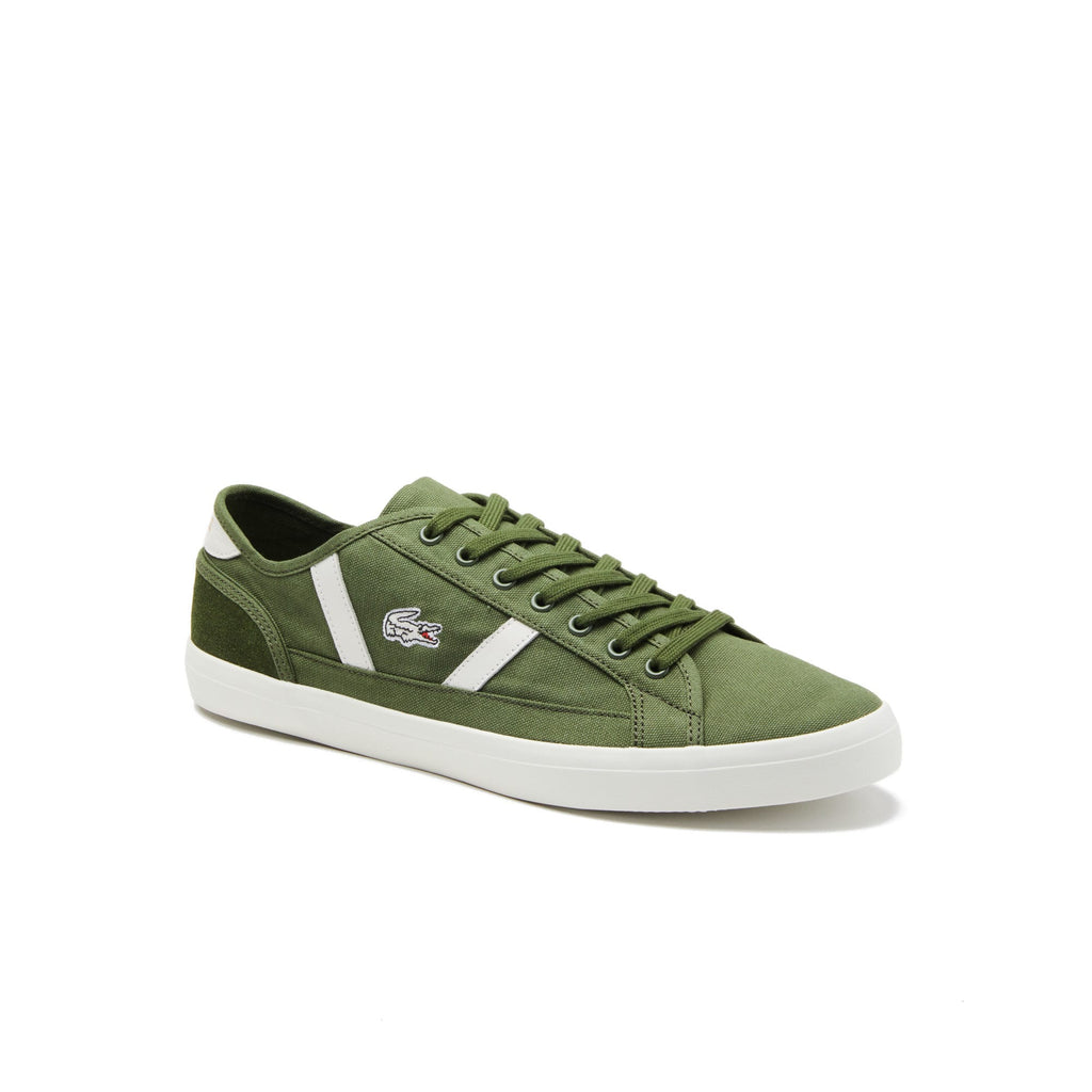 Men's Lacoste Sideline Canvas Shoes Green (737CMA00662A9) | Chicago City Sports | front view
