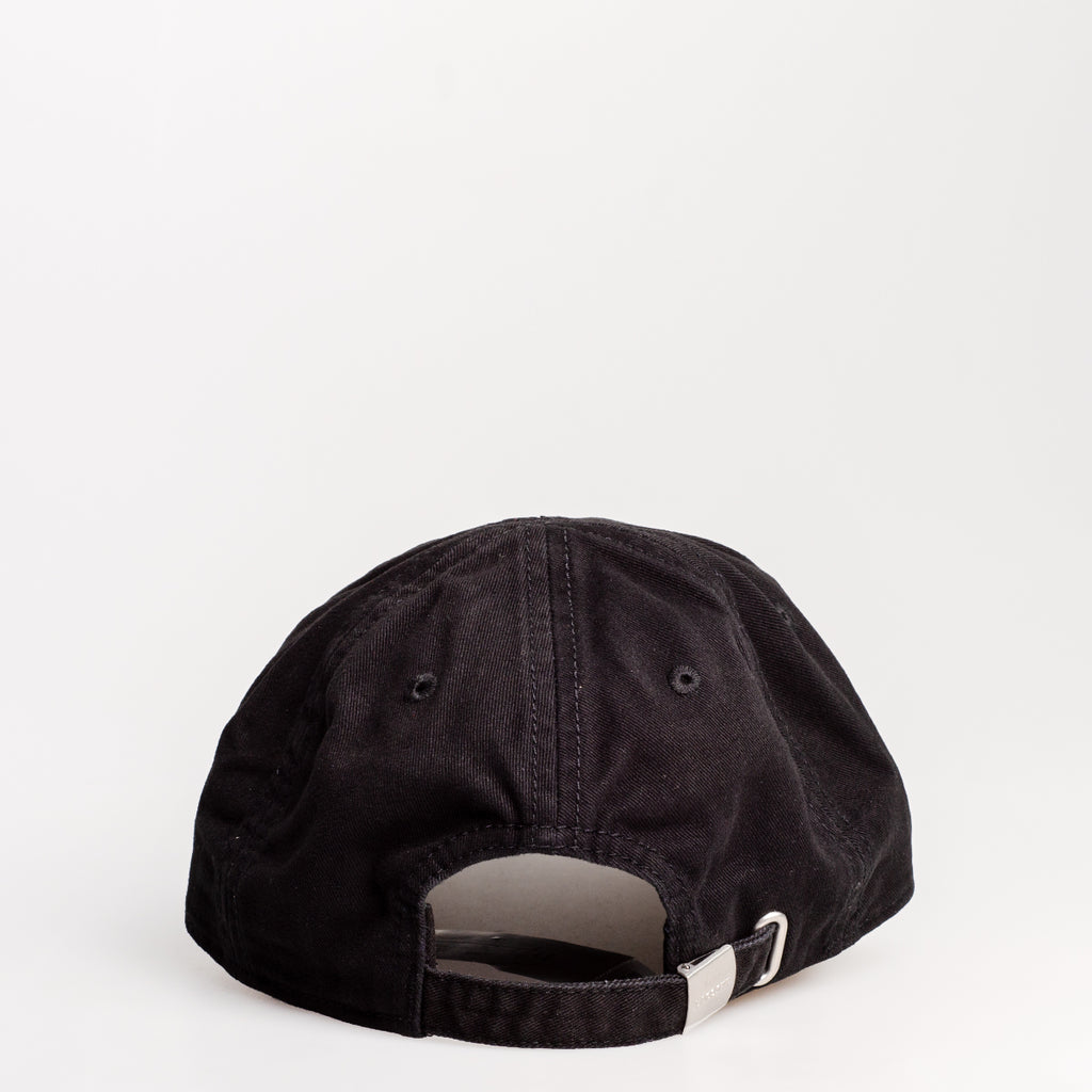 Men's Lacoste Big Croc Gabardine Cap Black RK8217031 | Chicago City Sports | rear view