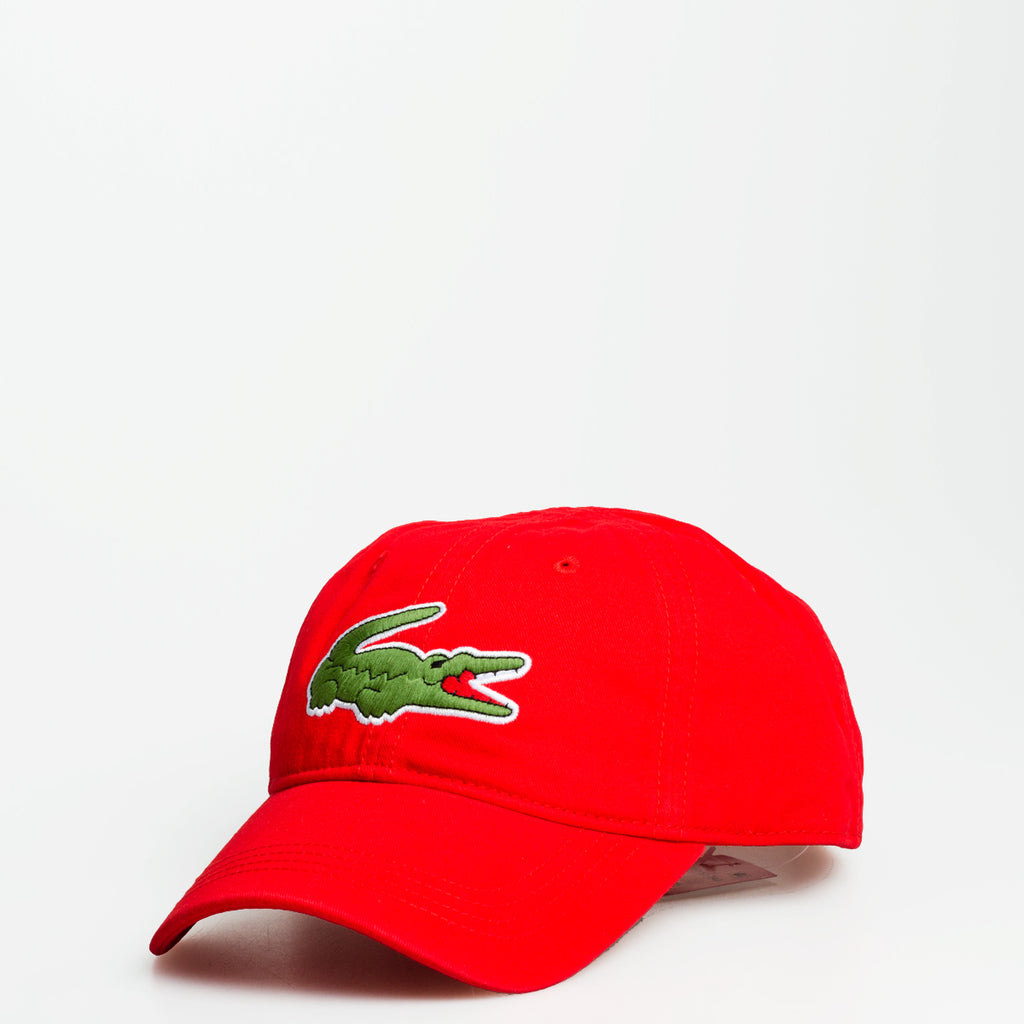 Men's Lacoste Big Croc Gabardine Cap Scarlet Red