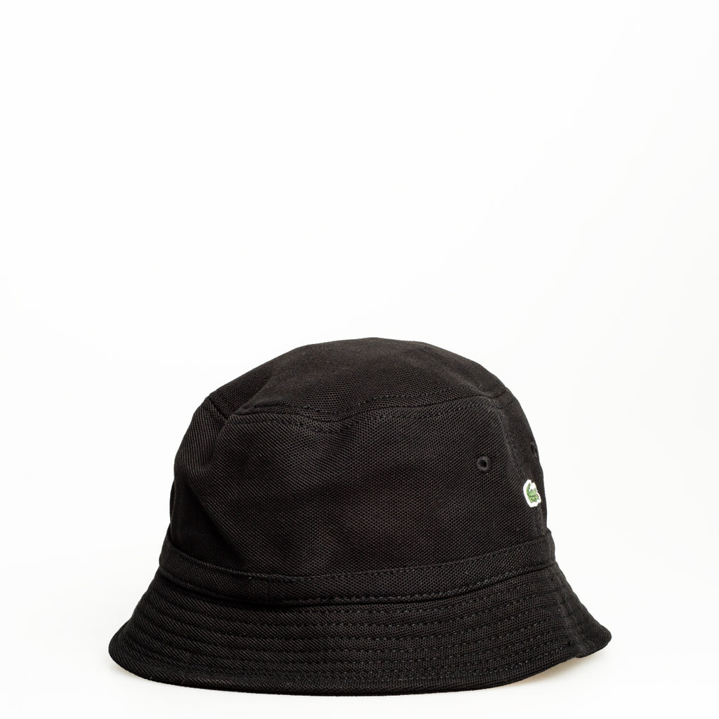 Men's Lacoste Cotton Piqué Bucket Hat Black