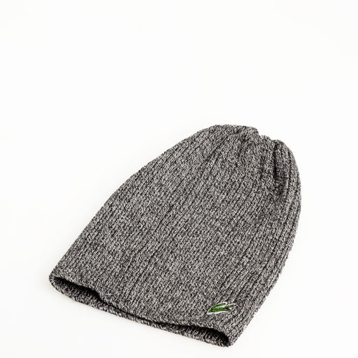 a0caa35e7e3 ... Mens Lacoste Ribbed Wool Beanie Heather Grey pick up 08a11 b29e8 . ...