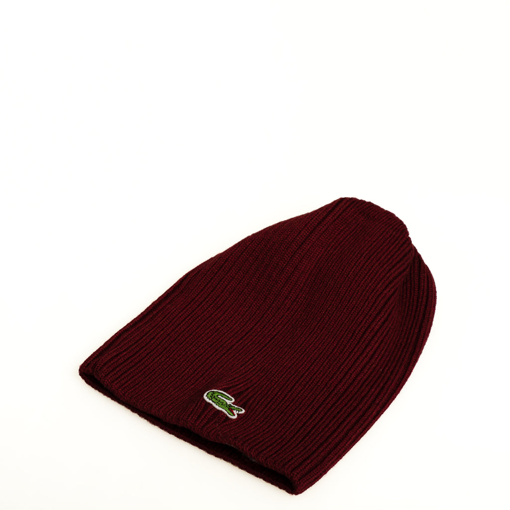 Men's Lacoste Ribbed Wool Beanie Bilberry