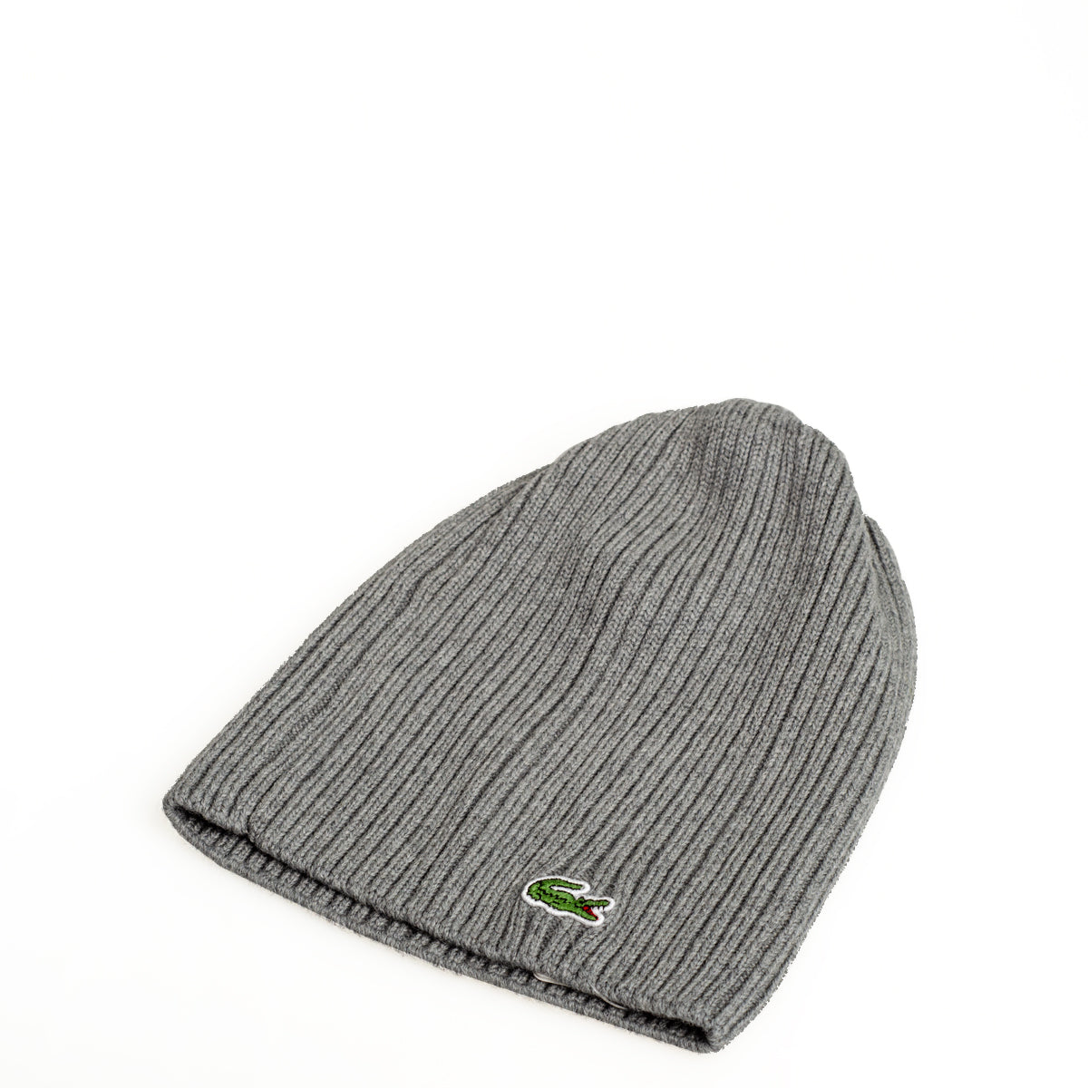 Men s Lacoste Ribbed Wool Beanie Stone Grey RB3504UWC  0a3785b62d
