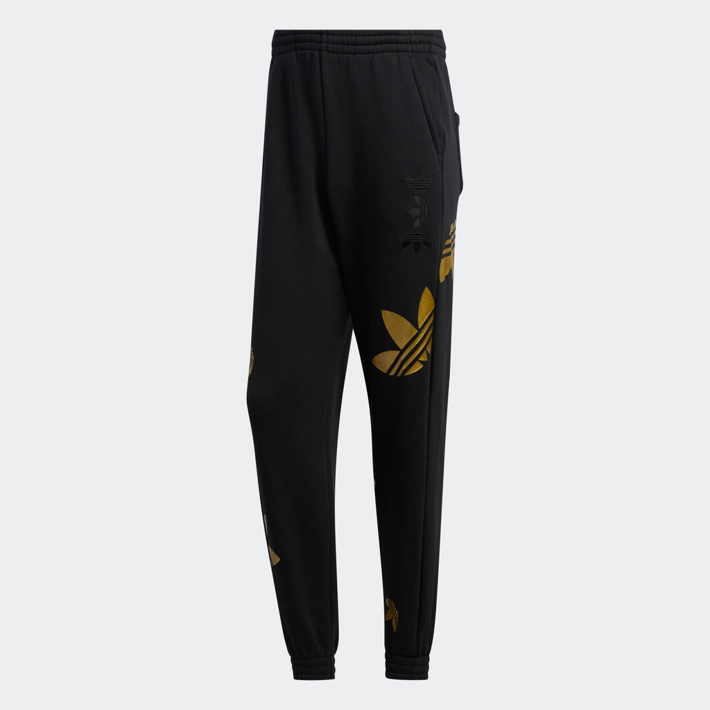 Women's adidas Originals Large Logo Pants Black Gold