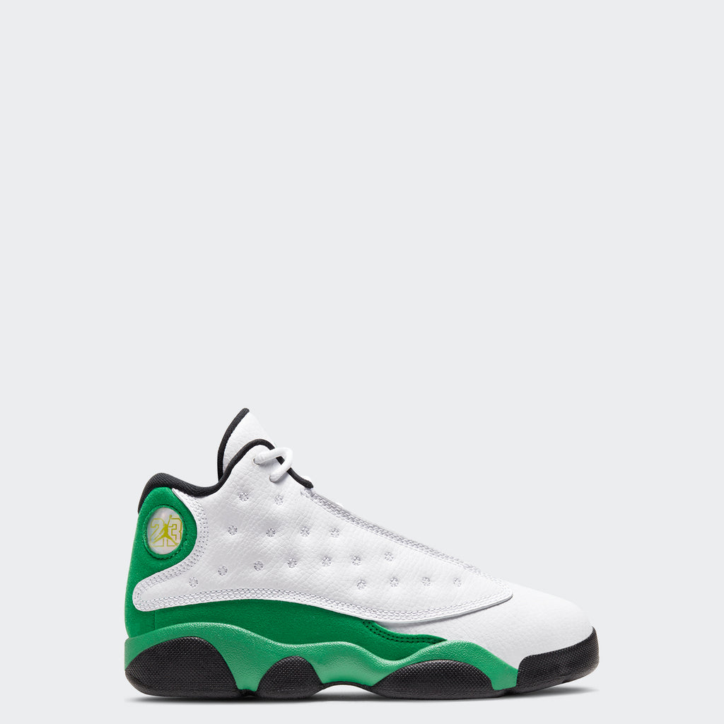"Little Kids' Air Jordan 13 Retro PS ""Lucky Green"" (Sizes 10.5C-3Y) 